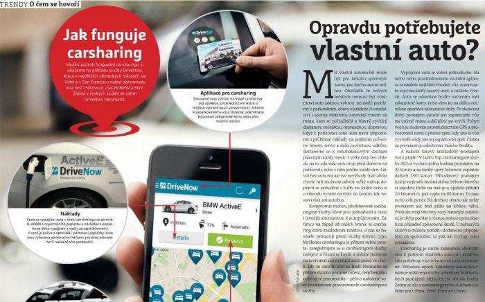 Carsharing AJO.cz v časopise CHIP