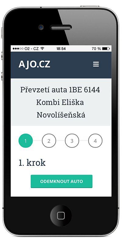 Carsharing AJO.cz ajo: odemykání auta