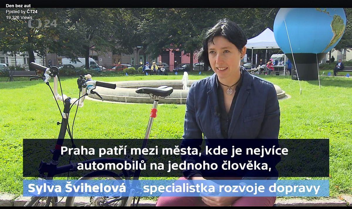 Den bez auta Praha. Sylva Švihelová